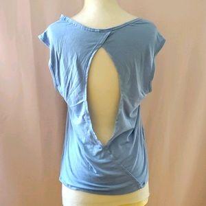 Victoria Secret open back blue top sz Small [839]